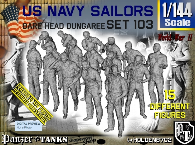 1/144 USN Dungaree Barehead Set103