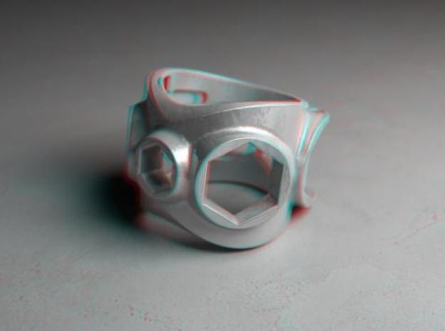 1086 ToolRing - size 7 (17,35 mm) 3d printed 1086 ToolRing - Anaglyph (front)
