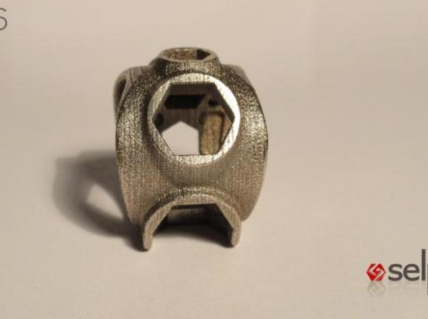 1086 ToolRing - size 7 (17,35 mm) 3d printed 1086 ToolRing - Primal Finish B