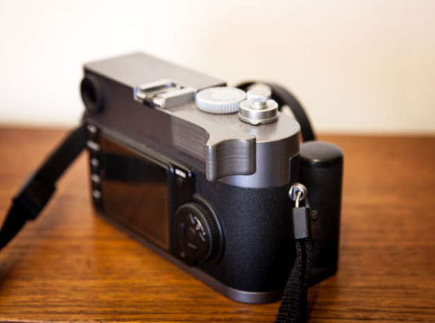 Leica M Camera Thumb Grip in Polished Bronzed Silver Steel