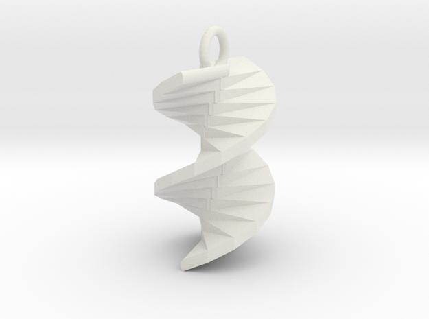 ciondolo spirale settembre2017 2 in White Natural Versatile Plastic