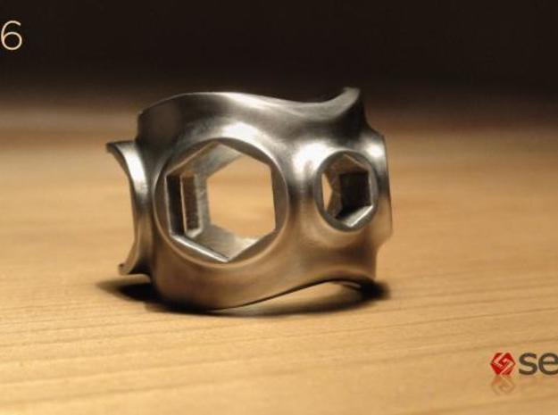 1086 ToolRing - size 12 (21,40mm) 3d printed 1086 ToolRing - Brushed Finish A