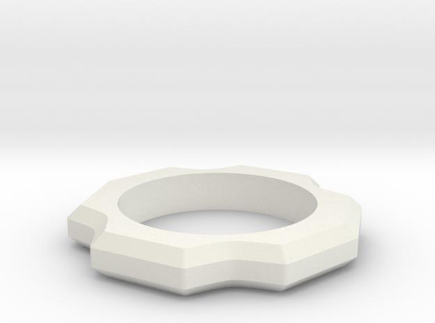 Beast Ring Spinner in White Natural Versatile Plastic