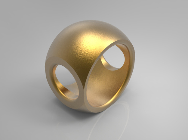 RING SPHERE 1 - SIZE 7 3d printed