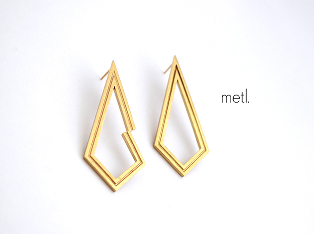 Perfectly Imperfect Earrings in Raw Brass