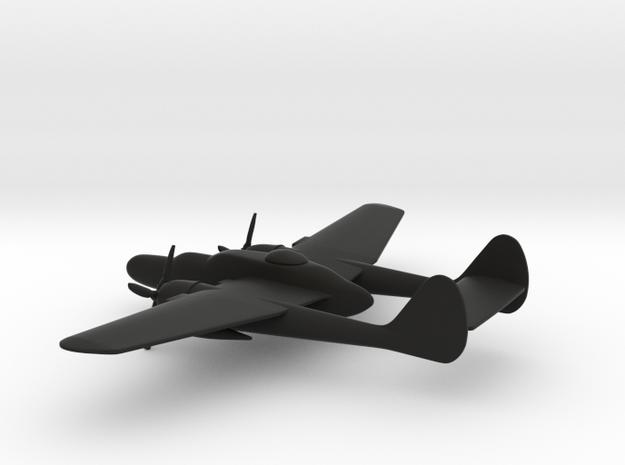 Northrop P-61 (w/o landing gears) in Black Natural Versatile Plastic: 1:200