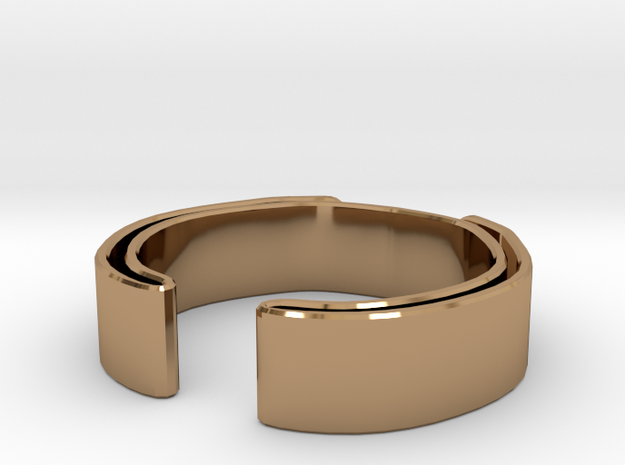 Double Fold Ring in Polished Brass