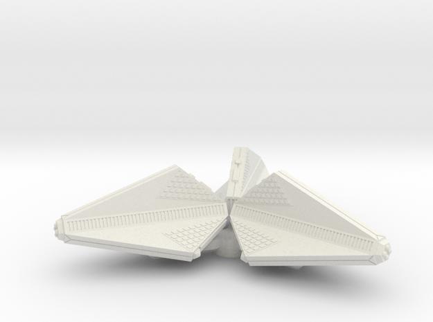 3125 Scale Tholian Patrol Corvette Pinwheel SRZ in White Natural Versatile Plastic