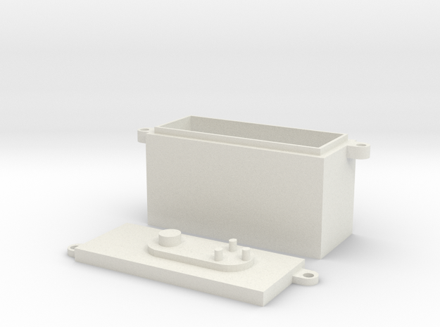 RC Fuel Cell in White Natural Versatile Plastic