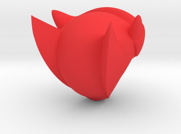 Mega Man Z Helmet in Red Strong & Flexible Polished