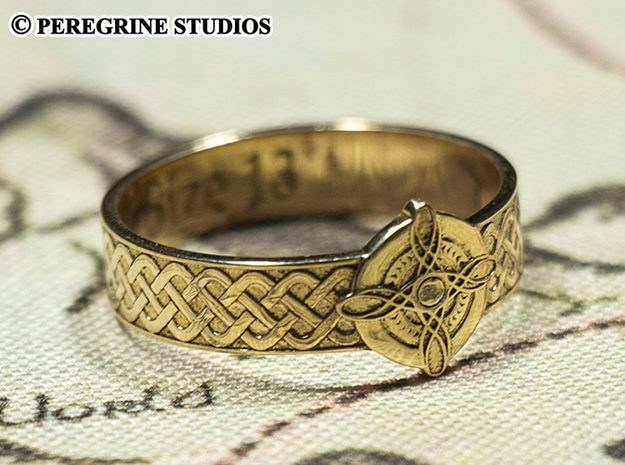 Ring - Ring of Mara (Size 13) in Polished Bronze