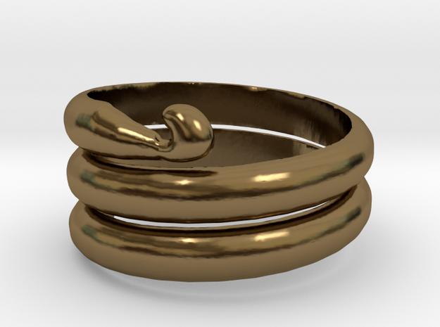 Crochet Hook Ring in Polished Bronze: 5 / 49