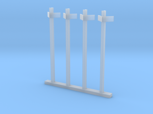 HO kM Posts - Old Rail Type in Smooth Fine Detail Plastic