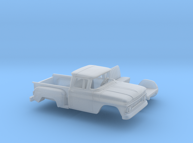 1/160 1962 Chevrolet C-10 Stepside Small Rear Wind in Frosted Ultra Detail