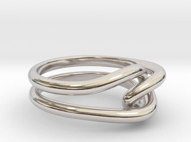Whitehead ring (US sizes 5.75 – 9.75) in Rhodium Plated Brass: 9 / 59