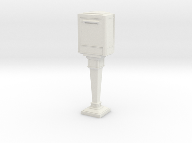 1/43 French Post Box / boîte postale n°2 in White Strong & Flexible
