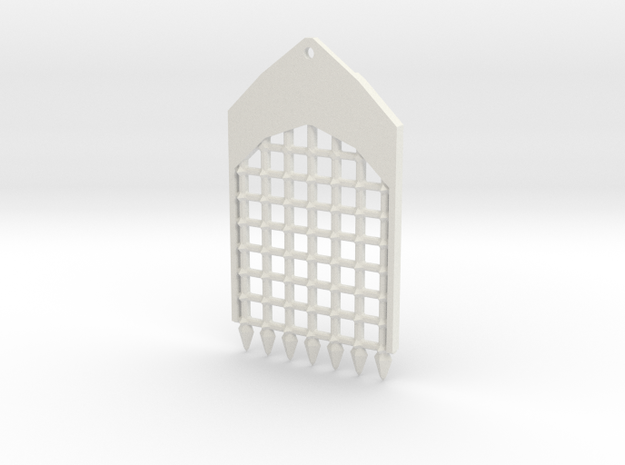 TRP-A-Grate-v3.0 in White Natural Versatile Plastic