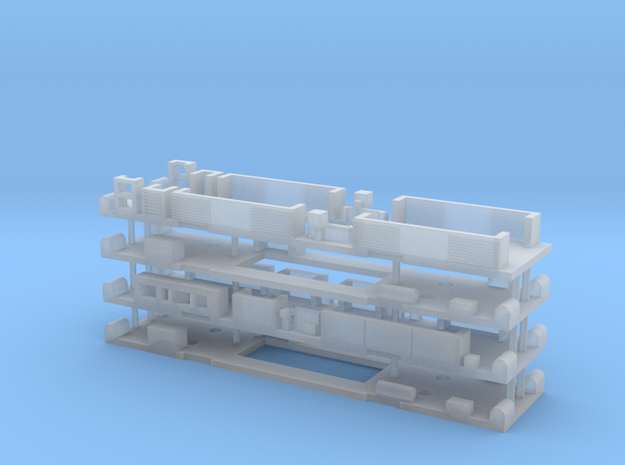 N Gauge Class 325/319 Underframe Set in Frosted Ultra Detail