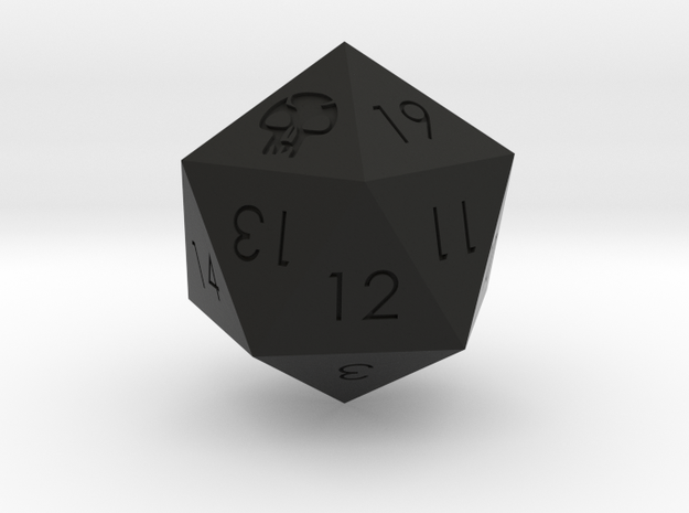 D20 Black Mana Symbol (MTG) in Black Strong & Flexible: Medium