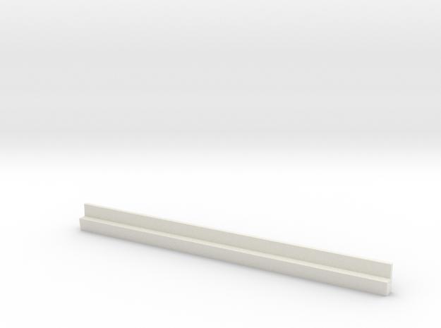 Profil 100mm Waggon-Sitzbank einfach niedrig WSF 1 in White Natural Versatile Plastic