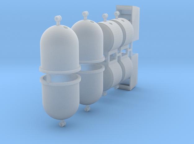 Wertstoffcontainerset 10er 1:120 TT in Smooth Fine Detail Plastic