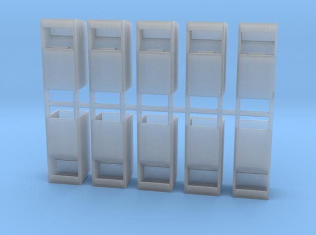 Altkleidercontainer 10er Set 1:120 TT in Smooth Fine Detail Plastic