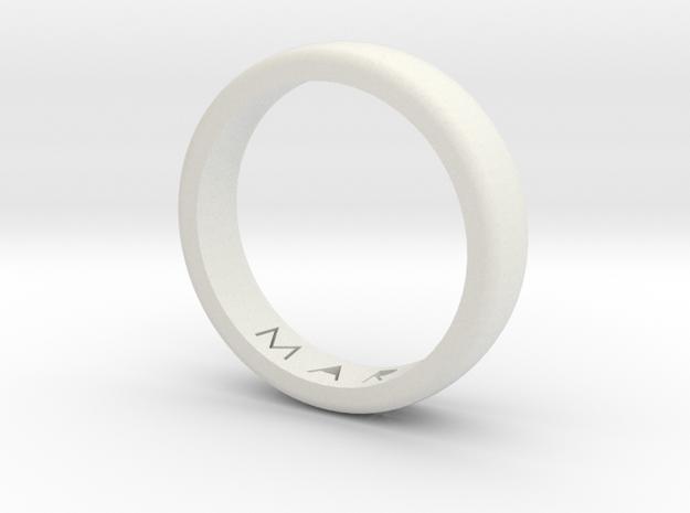 Ring in White Natural Versatile Plastic: Medium