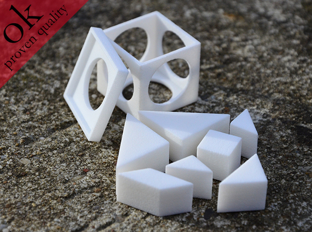 tangram cube (small edition) 3d printed