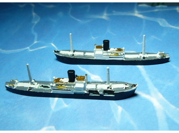 German Auxiliary Cruiser HSK Komet 1/1800 3d printed Add a caption...