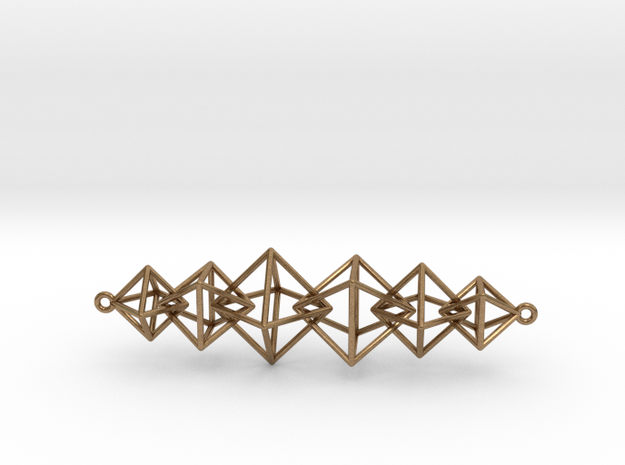 Interlocking Octahedron Necklace