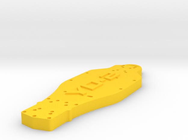 Yokomo YD2 Keychain in Yellow Processed Versatile Plastic