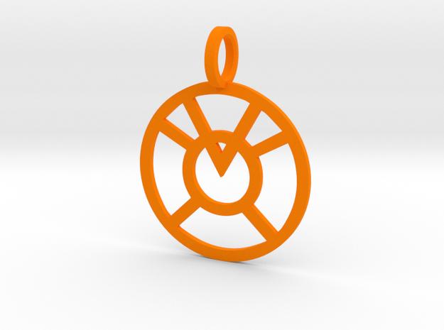 Orange Lantern in Orange Strong & Flexible Polished