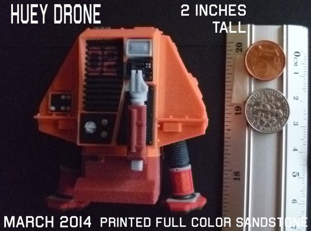 2 Inches DRONE 2 HUEY Full Color 3d printed