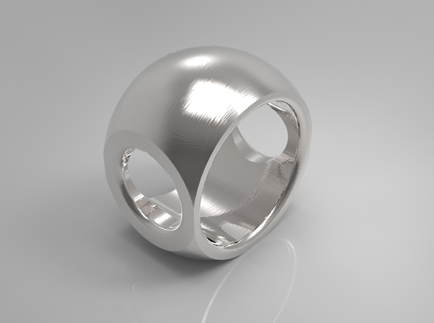 RING SPHERE 1 - SIZE 6 3d printed