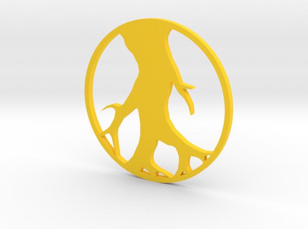 Tree Pendant in Yellow Processed Versatile Plastic