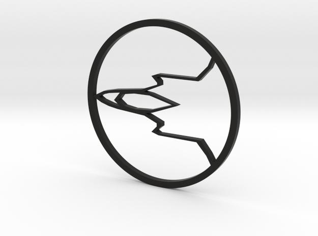 F35 Pendant in Black Natural Versatile Plastic