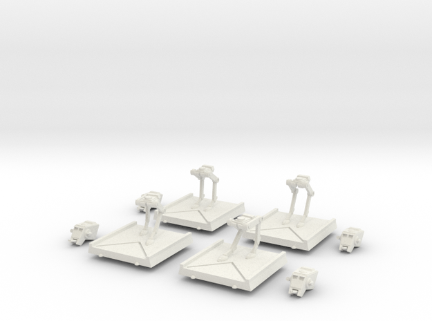 AT-ST Set in White Natural Versatile Plastic