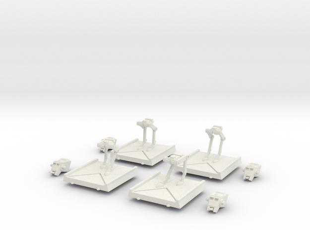 AT-ST Set in White Natural Versatile Plastic