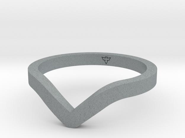 Dip Ring Sizes 6-13 in Polished Metallic Plastic: 6 / 51.5