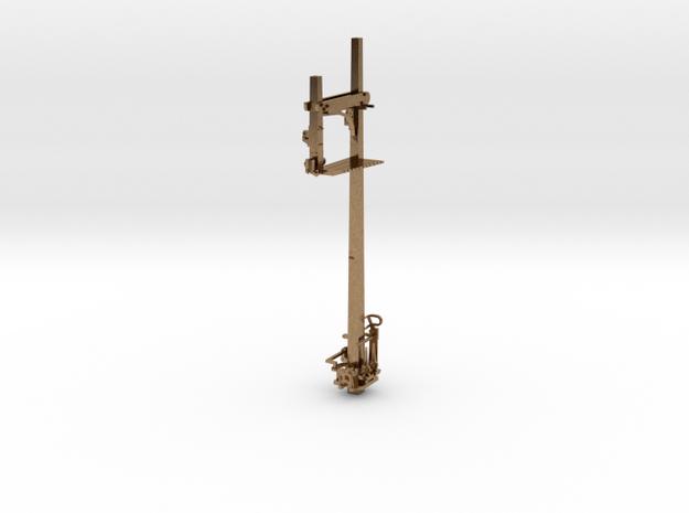 HO NSWR LQ RH Inverted Bracket Signal + Parts in Natural Brass