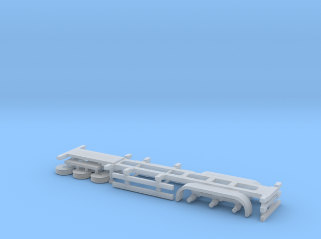 N Gauge Articulated Lorry Container Trailer in Smooth Fine Detail Plastic