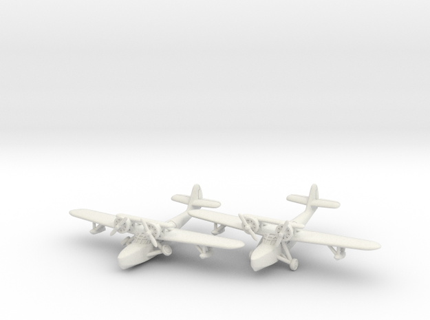Douglas Dolphin pair 1/285 6mm in White Natural Versatile Plastic