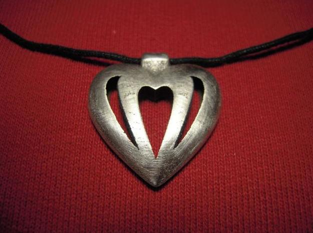 Heart Pendant 3d printed After polishing
