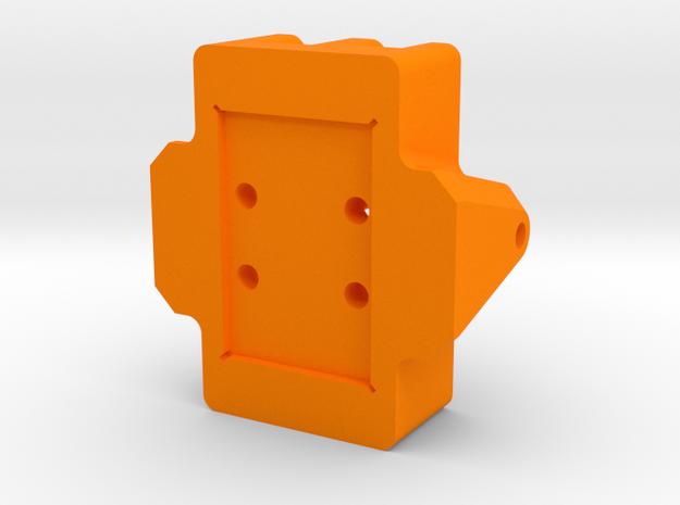 Kossel XL Ball Rail Carriage - Ndo Design in Orange Processed Versatile Plastic