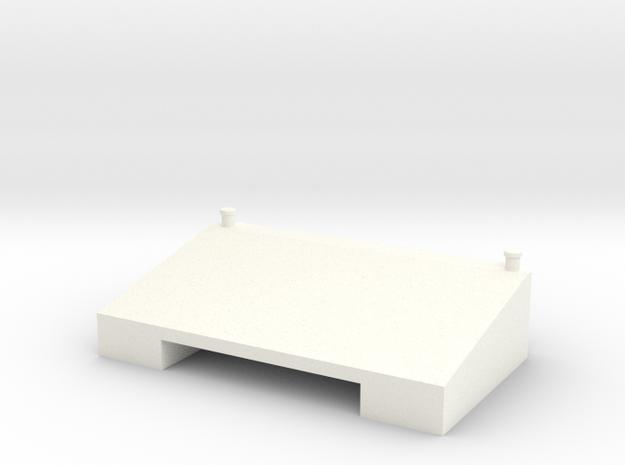 1:32 Xerion 5000 Zusatztank in White Strong & Flexible Polished