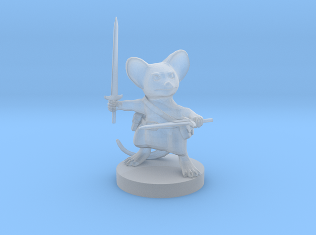 Mousefolk Fighter in Smooth Fine Detail Plastic