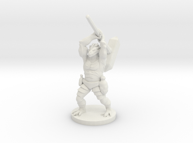 Dragonborn Barbarian with a Maul in White Strong & Flexible