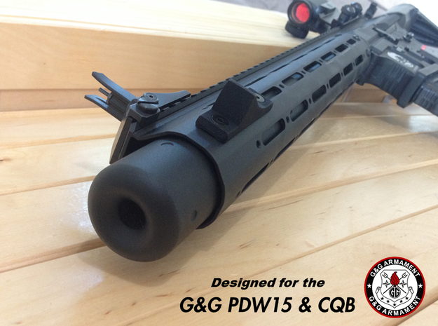 G&G PDW15 and CQB - Tactical Thumbstop in Black Natural Versatile Plastic