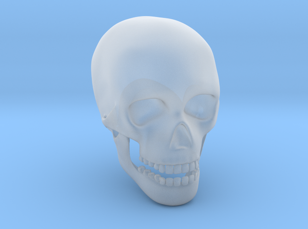 Skull in Smooth Fine Detail Plastic