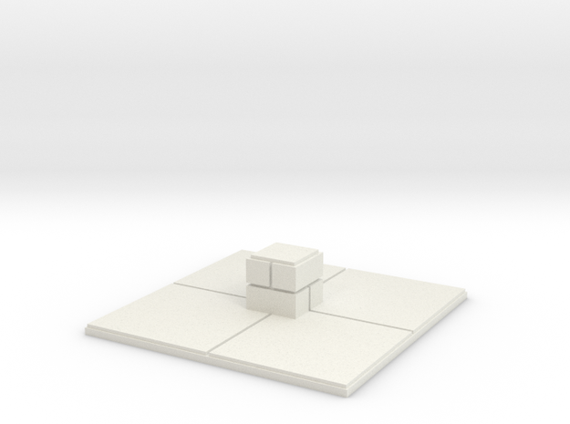 2x2 for 1.25 inch grid:Center pillar in White Strong & Flexible